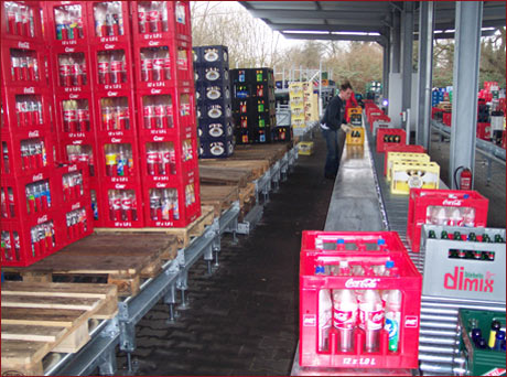 Complete lines 4 - Example: Semi automatic crate sorting line