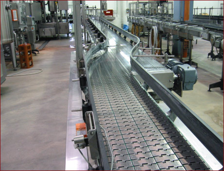 Container conveying systems 1 - Example: Container conveying system in the mineral water industry
