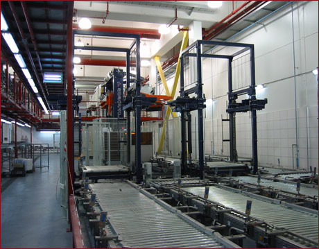 Pallet stacking / destacking device 1 -