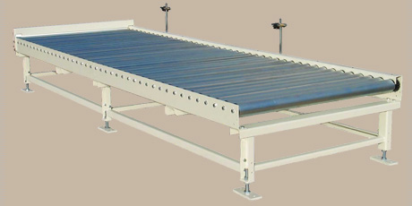 Roller conveyor 1 - Example: Multiple infeed / discharge segment