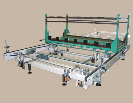 Conveying systems 2 - Chain conveyor for the transport of undercarriage components in special racks